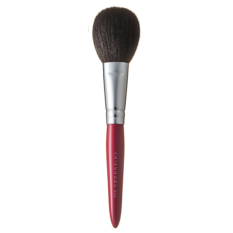 Chikuhodo Cheek Brush, Regular Series (R-C3 Black, RR-C3 Red)-Fude Beauty
