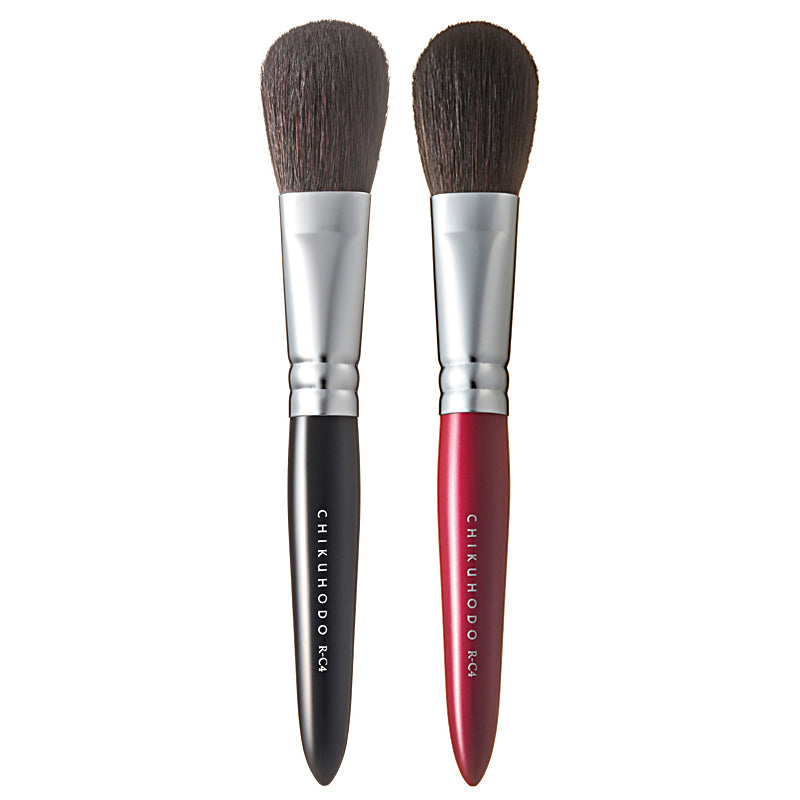 Chikuhodo Cheek Brush, Regular Series (R-C4 Black, RR-C4 Red)