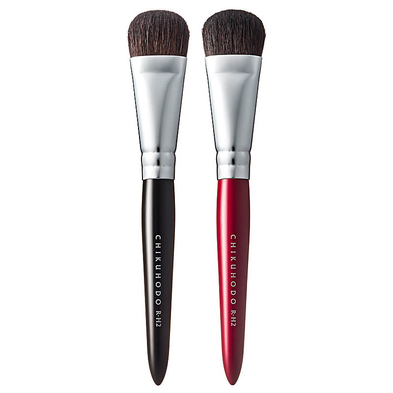 Chikuhodo RR-H2 Highlight Brush, Regular Series (RR-H2 Red)-Fude Beauty