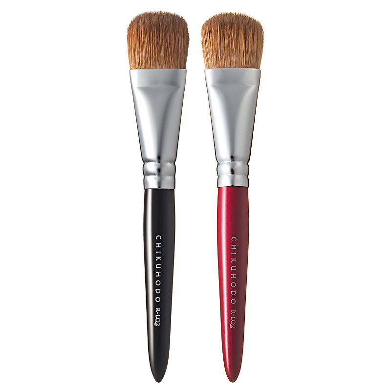 Chikuhodo Liquid Brush, Regular Series (R-LQ2 Black, RR-LQ2 Red)-Fude Beauty