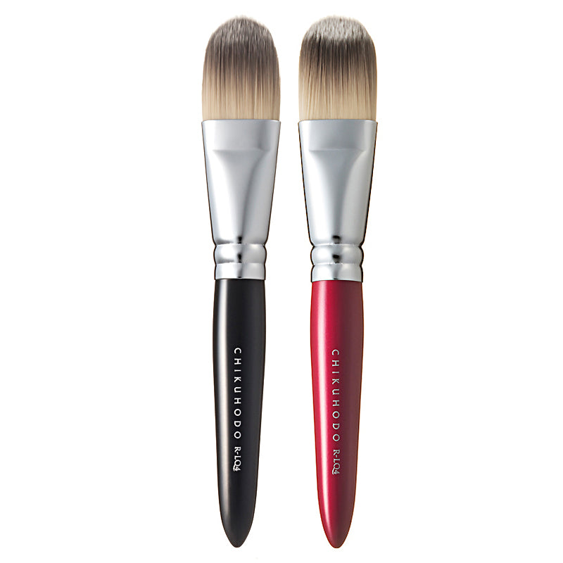 Chikuhodo Liquid Brush, Regular Series (R-LQ4 Black, RR-LQ4 Red)-Fude Beauty
