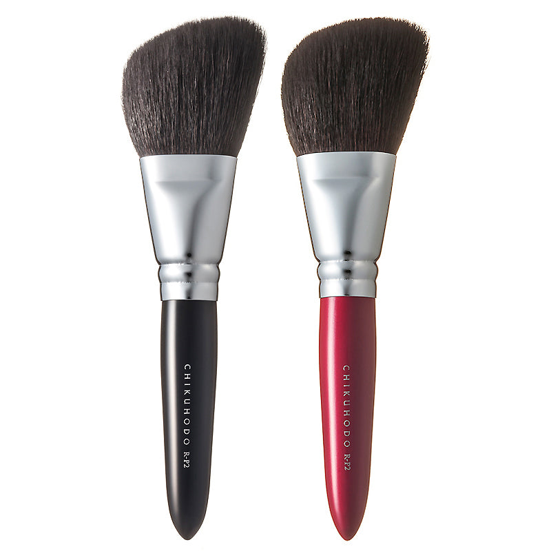Chikuhodo Powder Brush, Regular Series (R-P2 Black, RR-P2 Red)-Fude Beauty