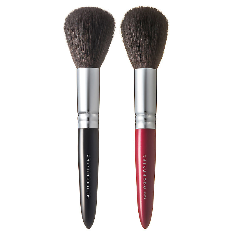 Chikuhodo Powder Brush, Regular Series (R-P3 Black, RR-P3 Red)