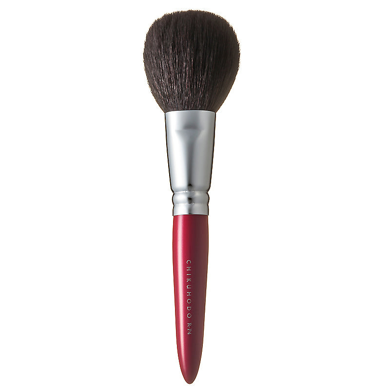 Chikuhodo Powder Brush, Regular Series (R-P4 Black & RR-P4 Red)