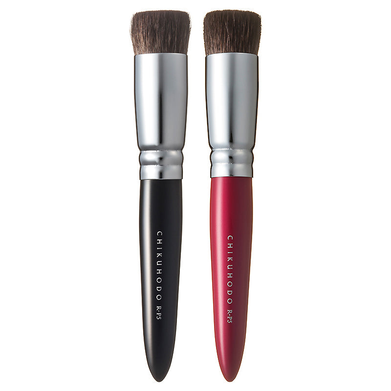 Chikuhodo Foundation Brush, Regular Series (R-P5 Black, RR-P5 Red)-Fude Beauty