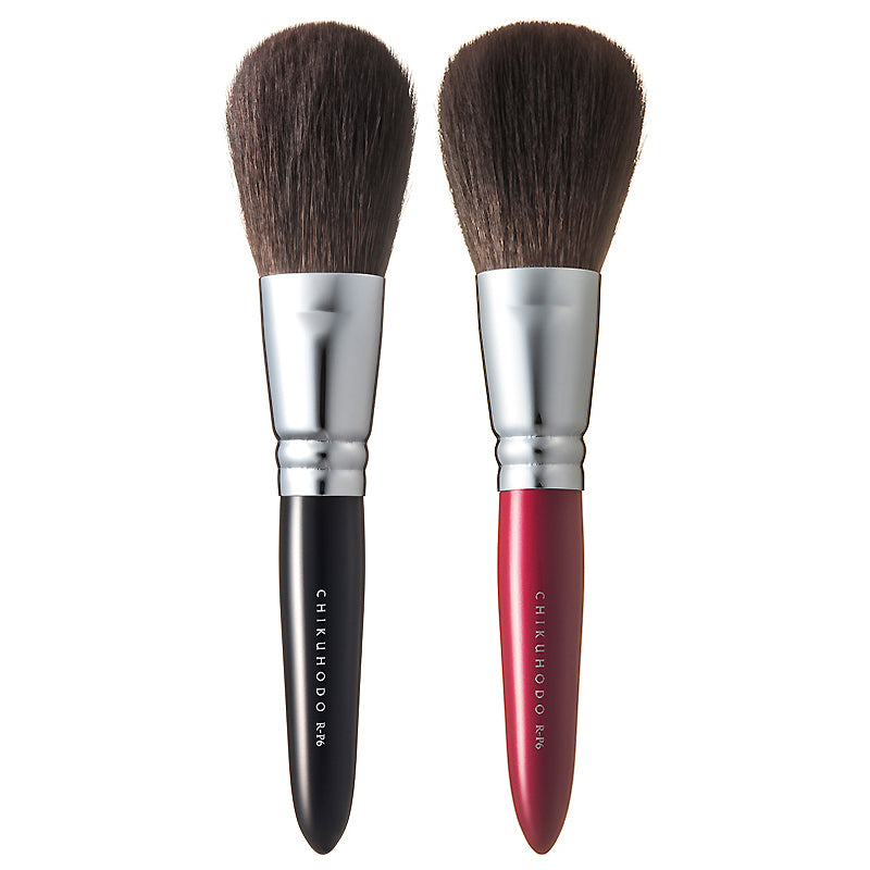 Chikuhodo Powder Brush, Regular Series (R-P6 Black & RR-P6 Red)-Fude Beauty