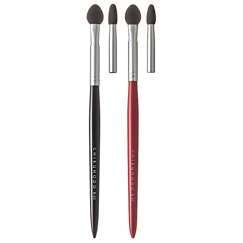 Chikuhodo Eyeshadow Tip, Regular Series (R-S5 Black, RR-S5 Red)-Fude Beauty