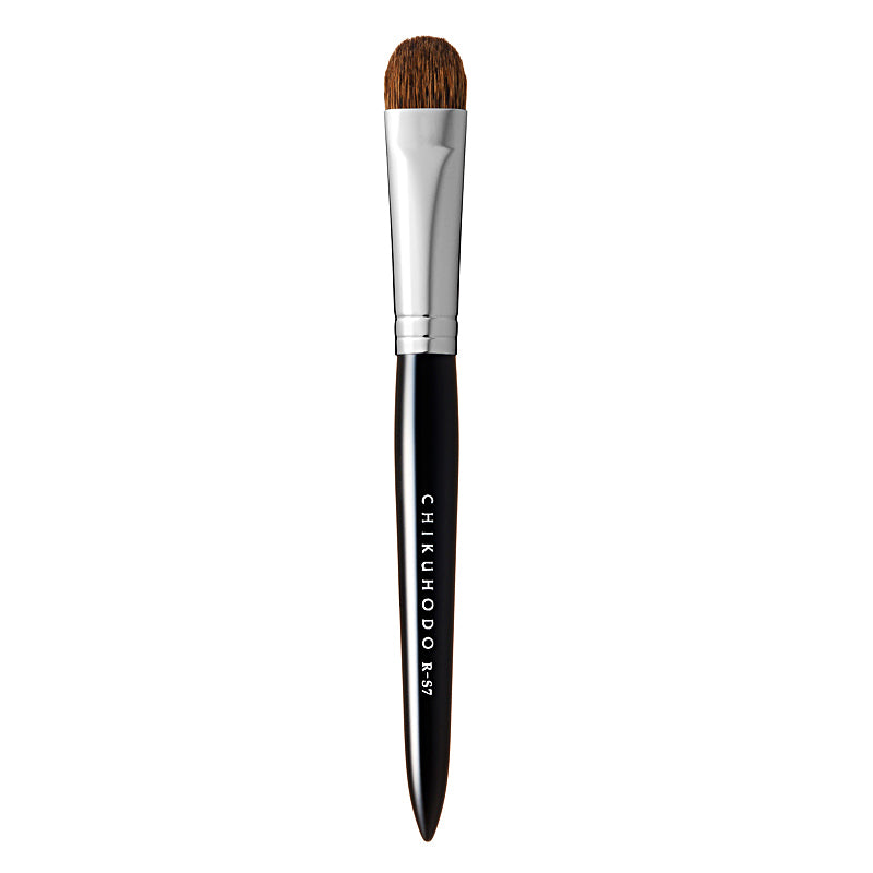 Chikuhodo Eyeshadow Brush, Regular Series (R-S7 Black, RR-S7 Red)-Fude Beauty