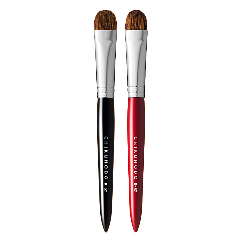 Chikuhodo Eyeshadow Brush, Regular Series (R-S7 Black, RR-S7 Red)
