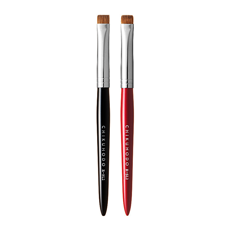 Chikuhodo Shadow-Liner Brush, Regular Series (R-SL2 Black, RR-SL2 Red)-Fude Beauty