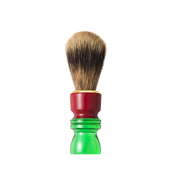 Chikuhodo Mens: SH-4 Shaving Brush Red/Green-Fude Beauty