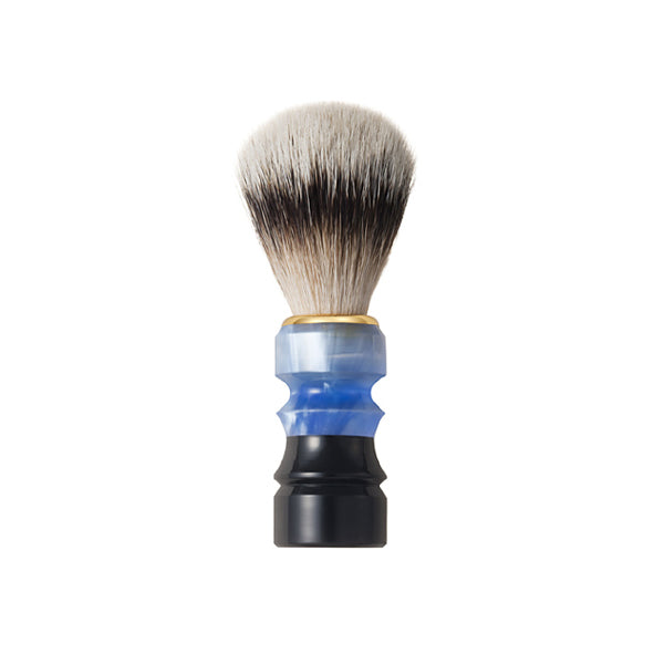 Chikuhodo Mens: SH-5 Shaving Brush Blue/Black-Fude Beauty