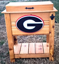 Patio Cooler Rack-52 Quart-Football-Georgia-Collegiate