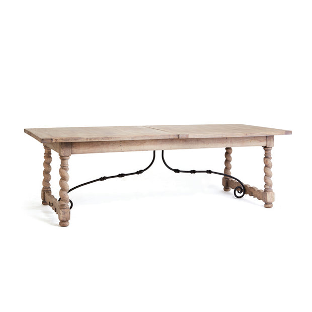 Beachy Wood Iron Dining Table