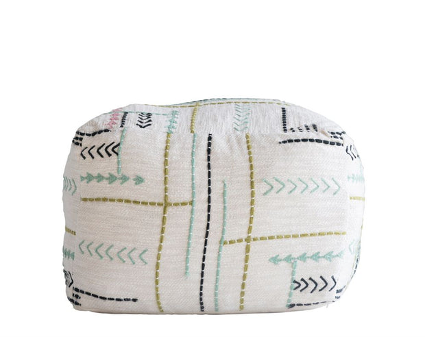 Boho Embroidered Pouf
