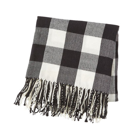 Buffalo Check Fringe Blanket