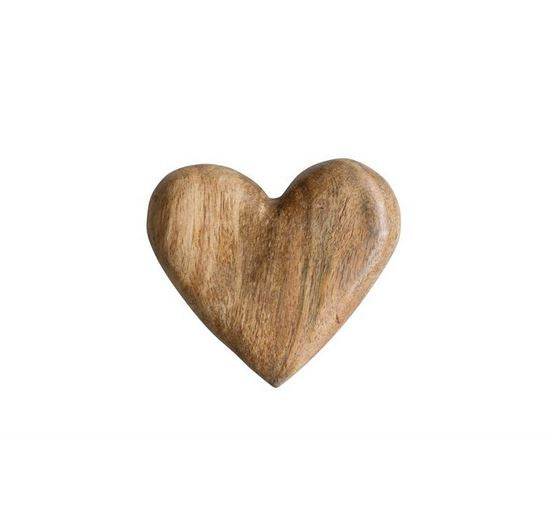 Carved Mango Wood Heart