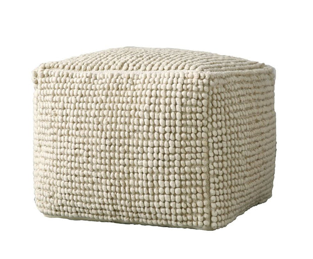 Square Wool Tufted Pouf