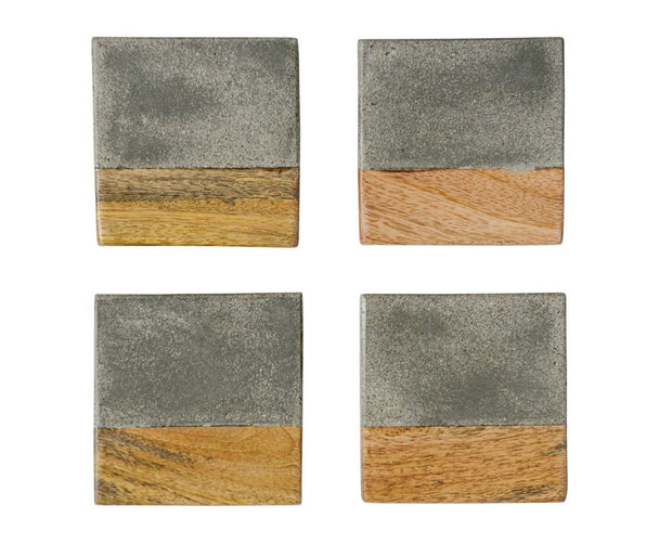 Concrete & Wood Coasters