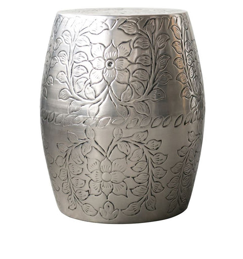 Embossed Metal Side Table