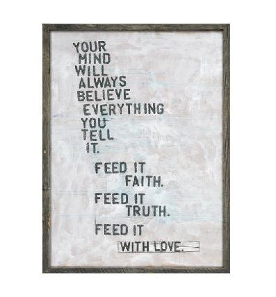Faith Truth & Love Sign