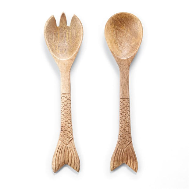 Fish Tail Wood Servers