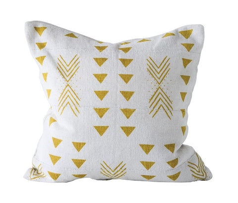 Mustard Mudcloth Pillow