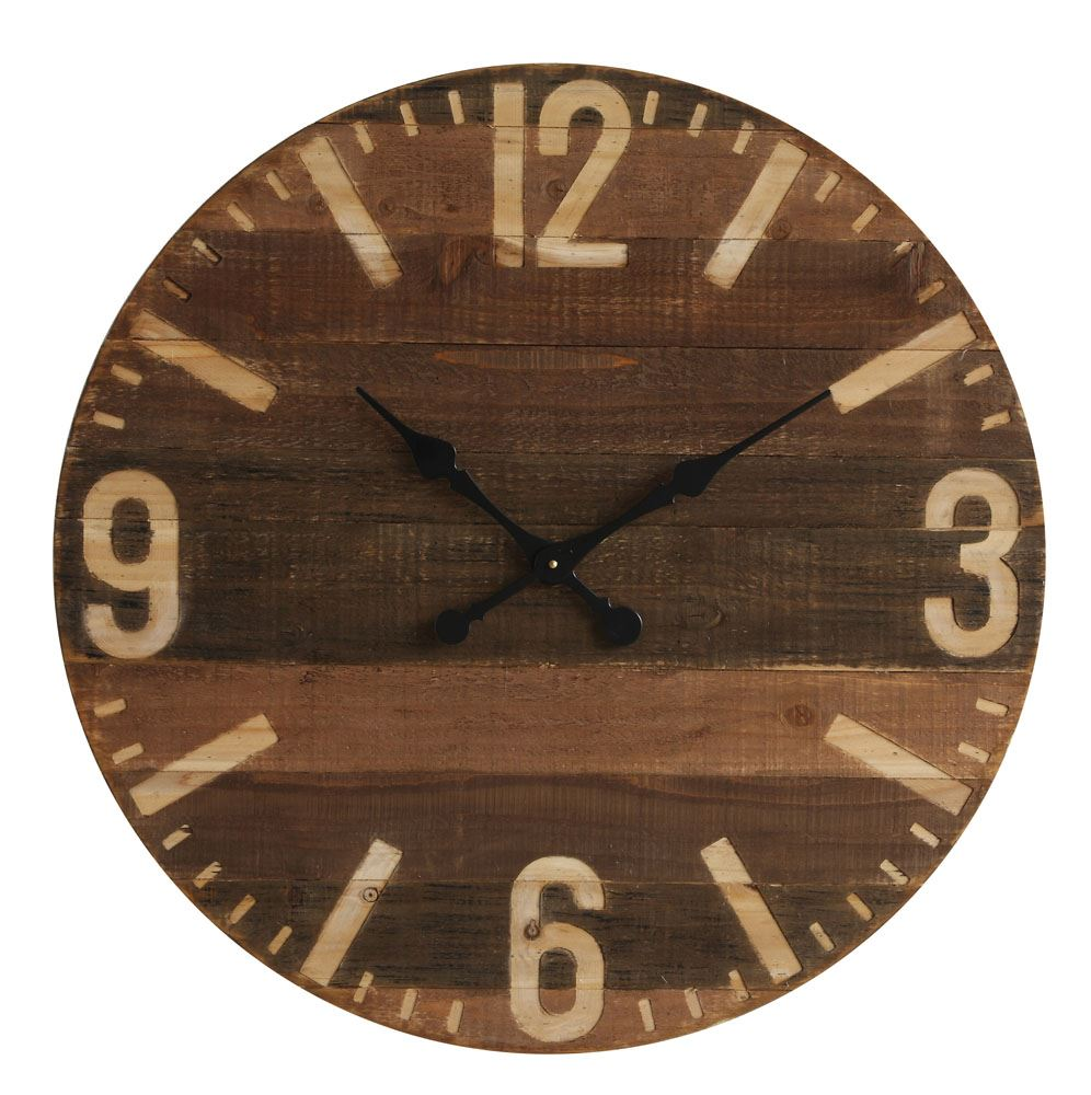 Rustic Large Wooden Clock
