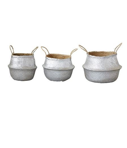 Silver Seagrass Basket Set