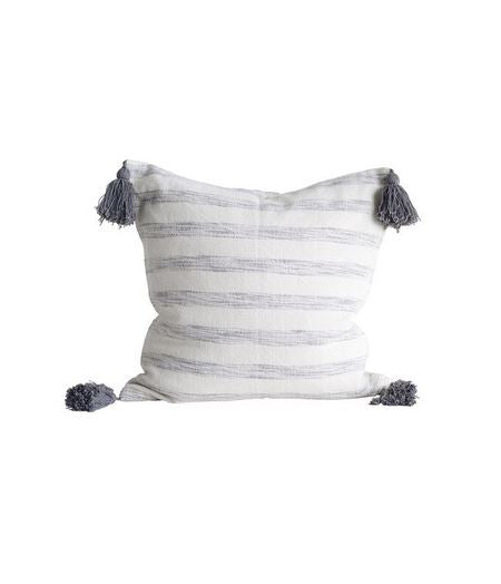 Woven Striped Tassels Pillow