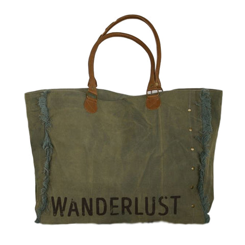 Wanderlust Canvas Tote