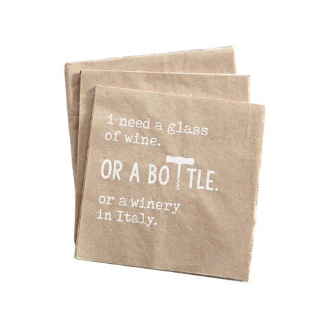 Wine Craft Napkin Set