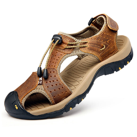 Genuine Leather Anti-Collision Outdoor Beach Sandals