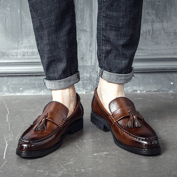Handmade Brogue Style Leather Oxfords