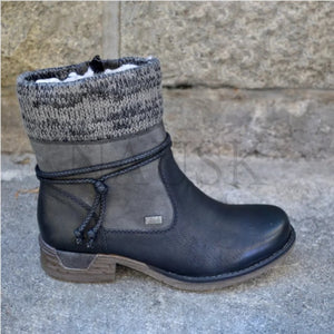 Womens Zip Winter Ankle Boots