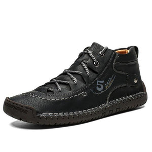 Split Leather Mens Ankle Boots