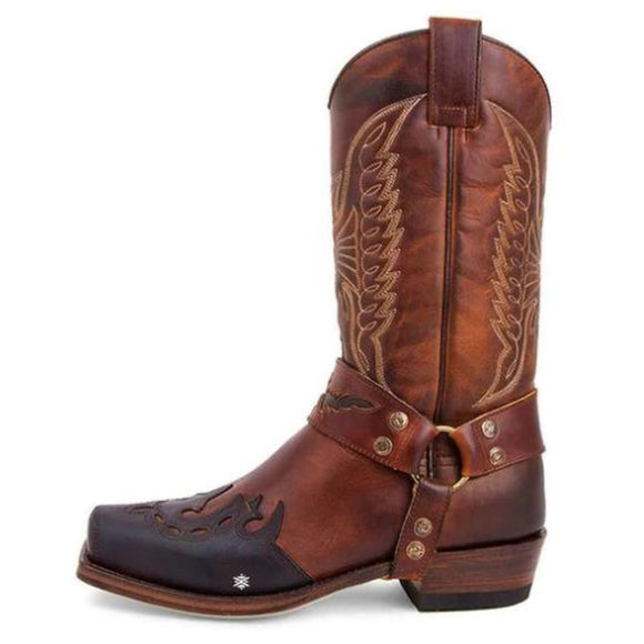 Outdoor Cowboy Leather Boots