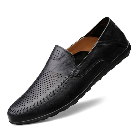 Genuine Leather Breathable Mens Loafers
