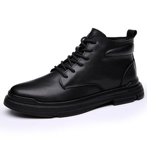 Genuine Leather Tooling Boots