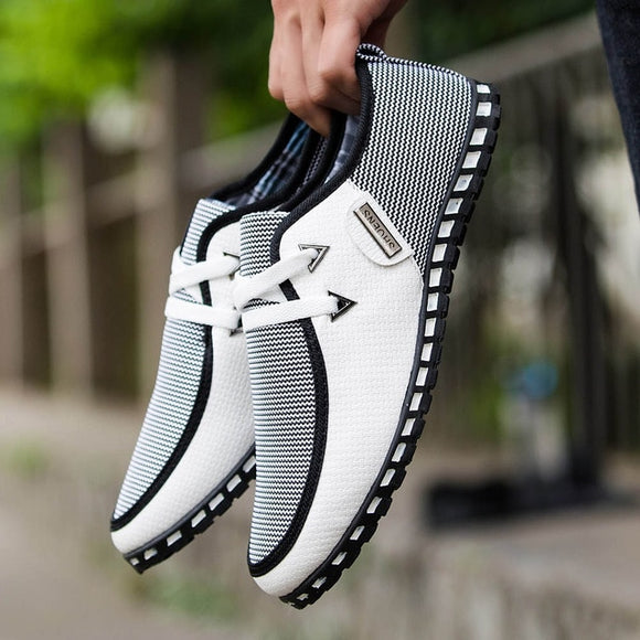 Striped Breathable Light Loafers
