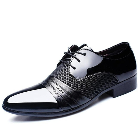 Fashion Leather Mens Breathable Dress Shoes