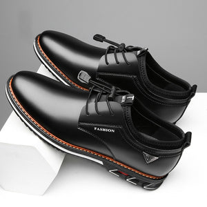 Split Leather Mens Casual Shoes