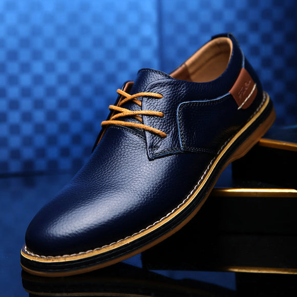 Genuine Leather Dress Shoes Big Size