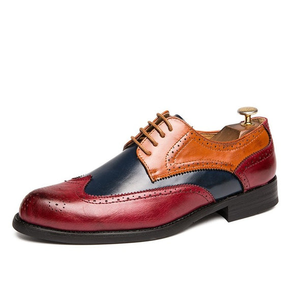 Fashion Hollw Brogue Leather Formal Dress Shoes