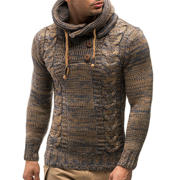 Warm Hooded Knitted Pullovers
