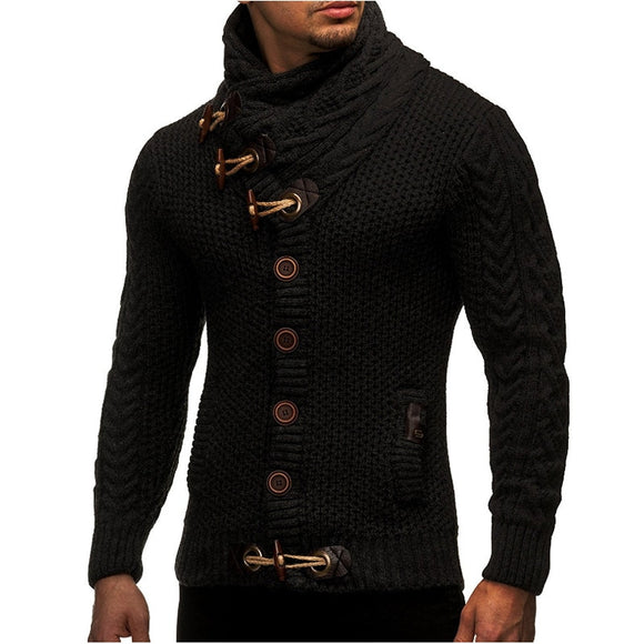 Knitted Turtleneck Casual Cardigan