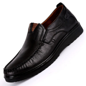 Breathable Leather Mens Driving Shoes