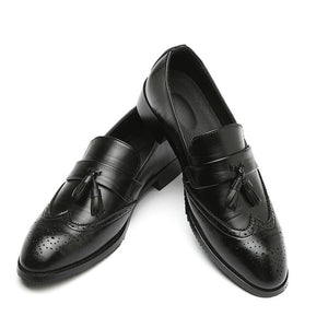 Leather Tassel British Style Brogues Shoes