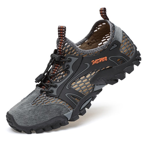 Suede Leather Breathable Mens Hiking Shoes