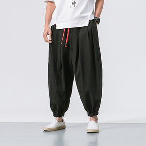Loose Casual Cotton Harem Pants